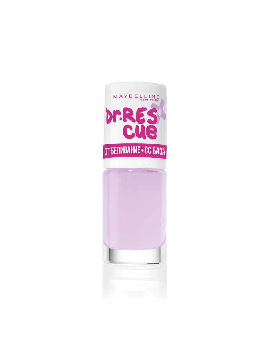 Maybelline New York Уход за ногтями DR. RESCUE, отбеливание - СС базовое покрытие,осветляющий, 7 млB2527900Осветляющее базовое покрытие корректирует цвет ногтей и обеспечивает равномерное отбеливание ногтевой пластины.