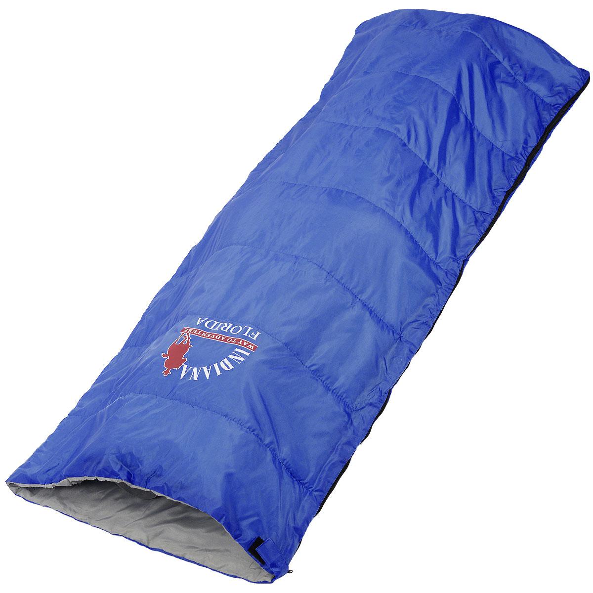 Спальный мешок-одеяло Indiana Florida, 180 см х 75 см360700031Классический спальный мешок Indiana Florida предусмотрен как для лета, так и для прохладного времени года, так как рассчитан на температуру от +5° C до +25°С.В сложенном виде мешок занимает очень мало места и весит совсем не много. Отлично подходит для летних походов, кемпинга и отдыха на природе.Что взять с собой в поход?. Статья OZON Гид