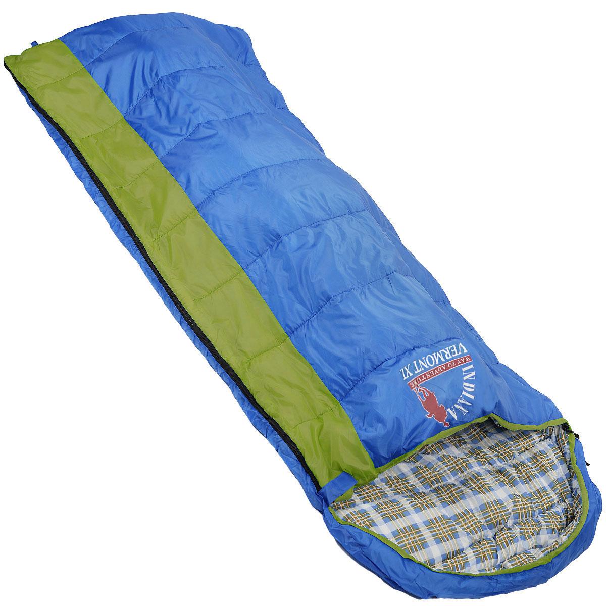 Мешок спальный Indiana Vermont Xl, левосторонняя молния, 185 см х 95 см360700037Самый популярный трехсезонный спальник-одеяло с подголовником, предназначен для комфортного сна даже в холодное время года. Спальный мешок Indiana Vermont Xl не только убережет вас от холода, но и, благодаря увеличенным размерам, обеспечит максимально комфортные условия для вашего сна. Разъемная молния позволяет состыковать два спальника в один большой.Что взять с собой в поход?. Статья OZON Гид