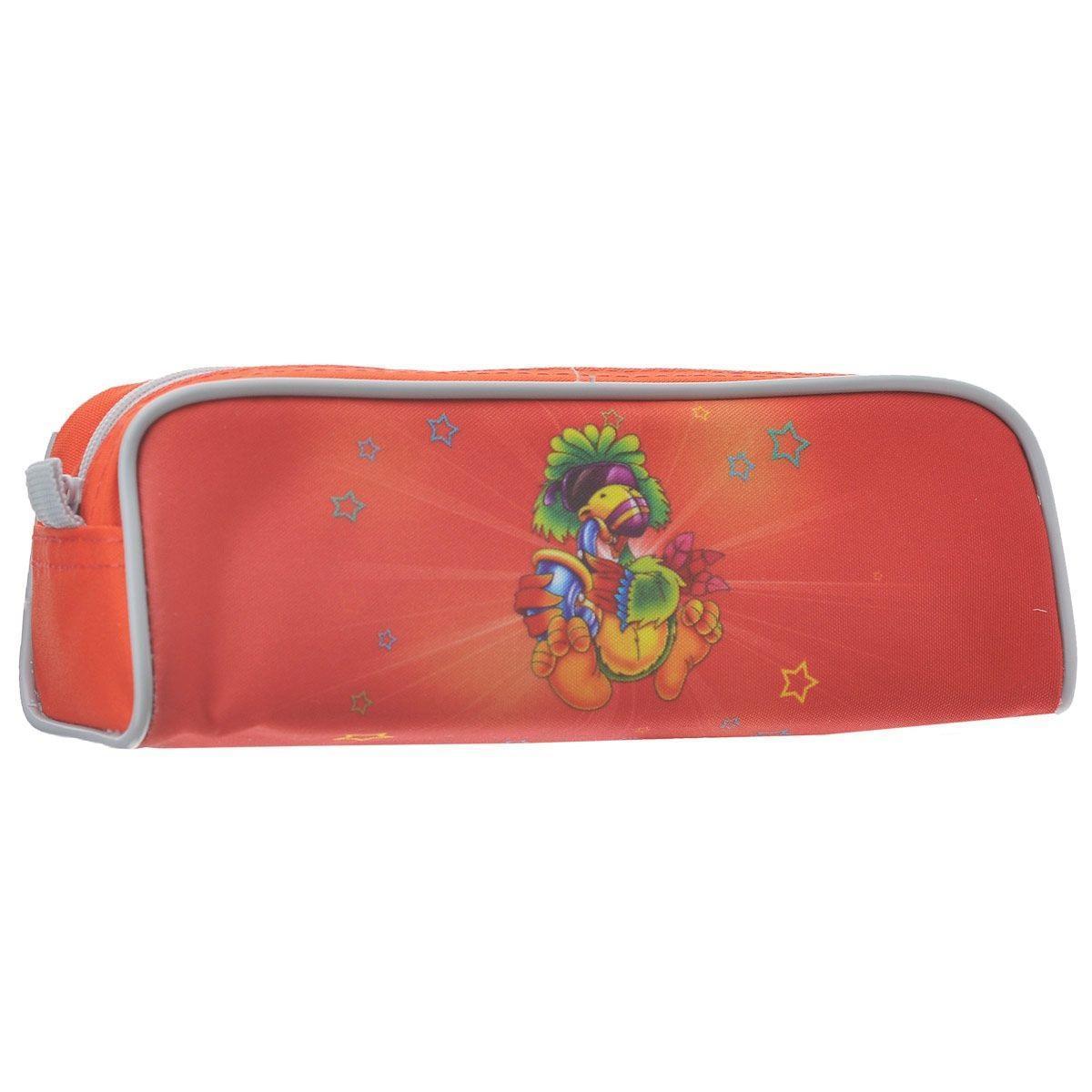 Пенал на молнии JOYFUL BIRDIE, без наполнения, 1 отделение, цвет: красный -  Пеналы