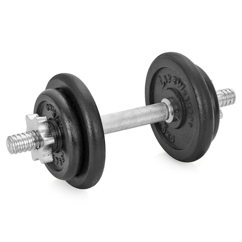 Гантель сборная Lite Weights, 9,43 кг эспандер lite weights грудной rj0302b