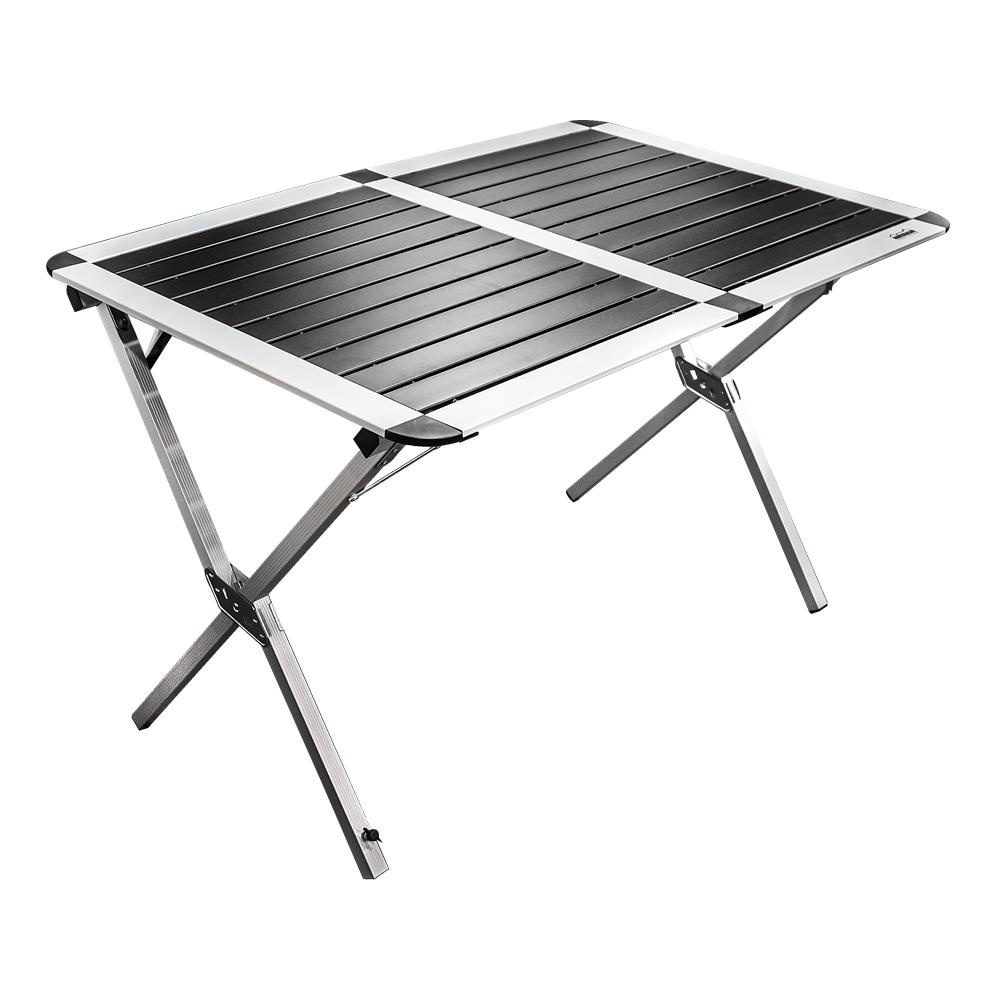 Стол складной Adrenalin Republic Double Top, 110 см х 70 см х 70 см80143Складной стол Adrenalin Republic Double Top со столешницей из алюминия Small Top предназначен для использования на природе, дома, охоте, рыбалке. Имеет прочную конструкцию.- Столешница из наборного алюминия компактно скручивается в рулон. - Складывается в чехол из прочного материала с лямкой для переноски. - В сложенном состоянии занимает мало места.