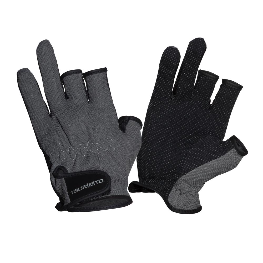 Перчатки рыболовные Tsuribito SFG-8016, цвет: темно-серый81528Стильные и практичные рыболовные перчатки универсального размера Tsuribito SFG-8016, изготовленные из полиэстера, незаменимы в промозглую и ветреную погоду. Эргономичный крой перчаток и использование современных материалов позволило добиться их великолепной посадки на руке.Они прекрасно защищают от переохлаждения и обветривания, продлевая время нахождения на рыбалке в холодный и сырой день. Самые легкие перчатки Tsuribito SFG-8016 рассчитаны на относительно высокую температуру. Комфортные и удобные при носке, эти перчатки являются многофункциональными и будут востребованы не только во время рыбной ловли.