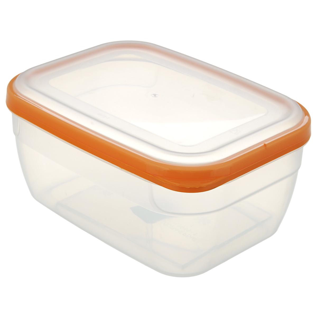 Контейнер для СВЧ Премиум, цвет: оранжевый, 1,8 лС564Пищевой контейнер предназначен специально для хранения пищевых продуктов. Крышка легко открывается и плотно закрывается. Устойчив к воздействию масел и жиров, легко моется. Прозрачные стенки позволяют видеть содержимое. Емкость имеет возможность хранения продуктов глубокой заморозки, обладает высокой прочностью. Контейнер необыкновенно удобен: в нем можно брать еду на работу, за город, ребенку в школу. Именно поэтому подобные контейнеры обретают все большую популярность.Размер: 20 см х 14,5 см х 9 см.