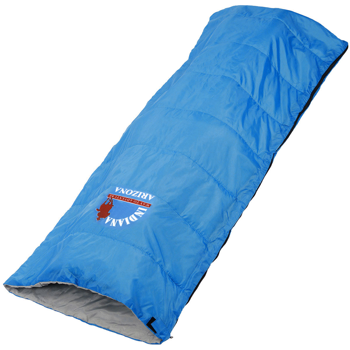 Спальный мешок-одеяло Indiana Arizona, 195 см х 85 см360700032Спальный мешок Indiana Arizona предусмотрен как для лета, так и для прохладного времени года, так как рассчитан на минимальную температуру -1° C.Его можно использовать не только во время отдыха, но и для повседневной жизни на даче или дома.Что взять с собой в поход?. Статья OZON Гид