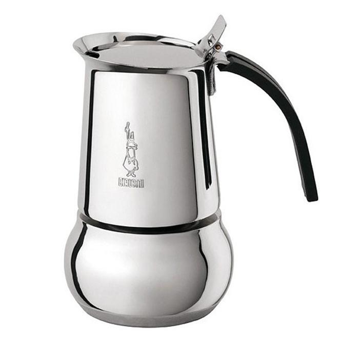 Кофеварка гейзерная Bialetti Kitty, на 4 порции, 240 мл4882Изящная гейзерная кофеварка из нержавеющей стали Bialetti Kitty - это элегантная кофеварка с мягкими, приятными линиями, способными украсить собой даже праздничный стол. Имеется предохранительный клапан давления. Ручка изготовлена из не обжигающего термостойкого материала, кнопка - из стали. Подходит для приготовления кофе на плите или других нагревающих поверхностях. Можно использовать на газу, электрической плите и стеклокерамике. Можно использовать на индукционных плитах. Не мыть в посудомоечной машине. Высота: 17,8 см. Ширина: 13,4 см. Глубина: 10,4 см.