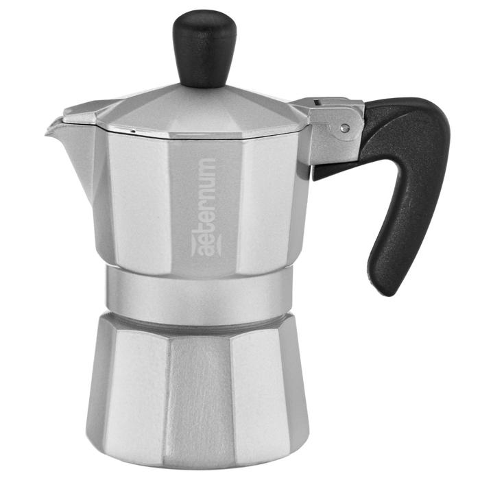 Гейзерная кофеварка Allegra Silver, 3 порции, ПОУ4522Гейзерная кофеварка Allegra Silver, 3 порции, ПОУ