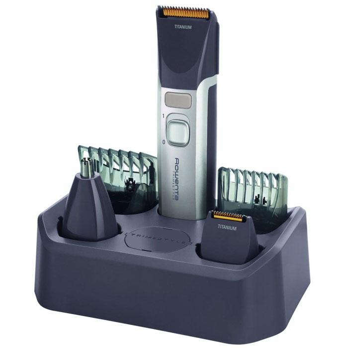 Rowenta TN9000 мультитриммер для бородыTN9000D4Мультитриммер Rowenta TN-9000 – это полноценный набор для стрижки. В набор входят пять насадок, ножницы и расческа.Аккумулятор обеспечивает автономную работу прибора в течение 45 минут. Благодаря водонепроницаемому корпусу Rowenta TN-9000 можно чистить под струей воды.Широкий диапазон установок длины (от 1,5 мм до 16 мм) значительно расширяет возможности триммера. Также помимо стрижки (волос, усов, бороды) он может быть использован для ухода за телом, то есть в качестве эпилятора. Высокое качество стрижки обеспечивают долговечные лезвия с титановым покрытием.