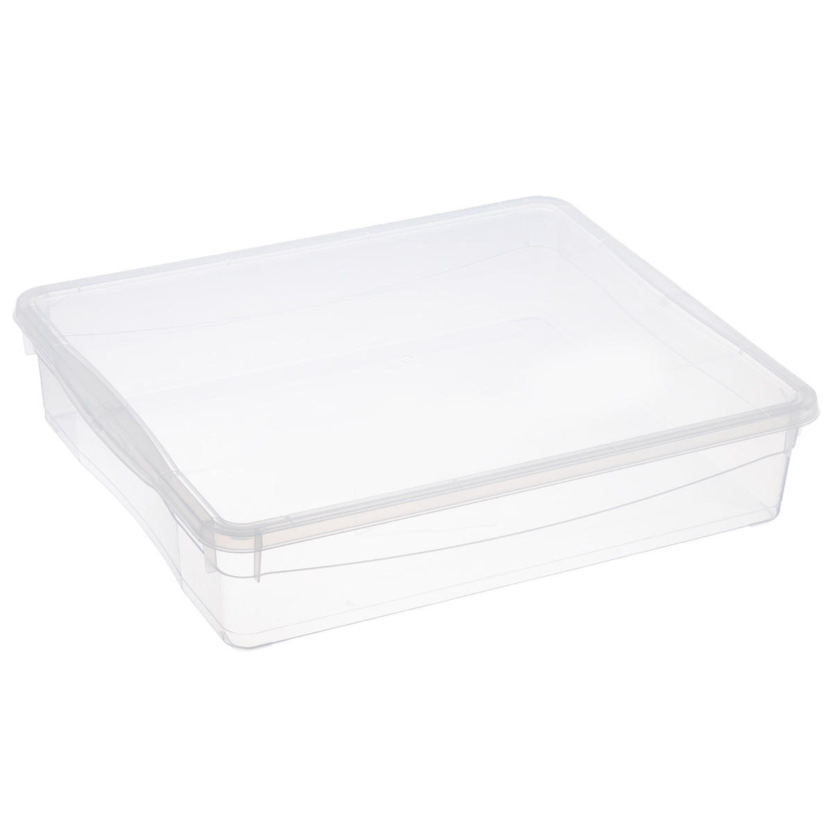 Ящик универсальный Econova Кристалл, цвет: прозрачный, 9 лС12494Универсальный ящик Econova Кристалл выполнен из прочного пластика и предназначен для хранения различных предметов. Изделие оснащено удобной крышкой.Очень функциональный и вместительный, такой ящик будет очень полезен для хранения вещей или продуктов, а также защитит их от пыли и грязи.