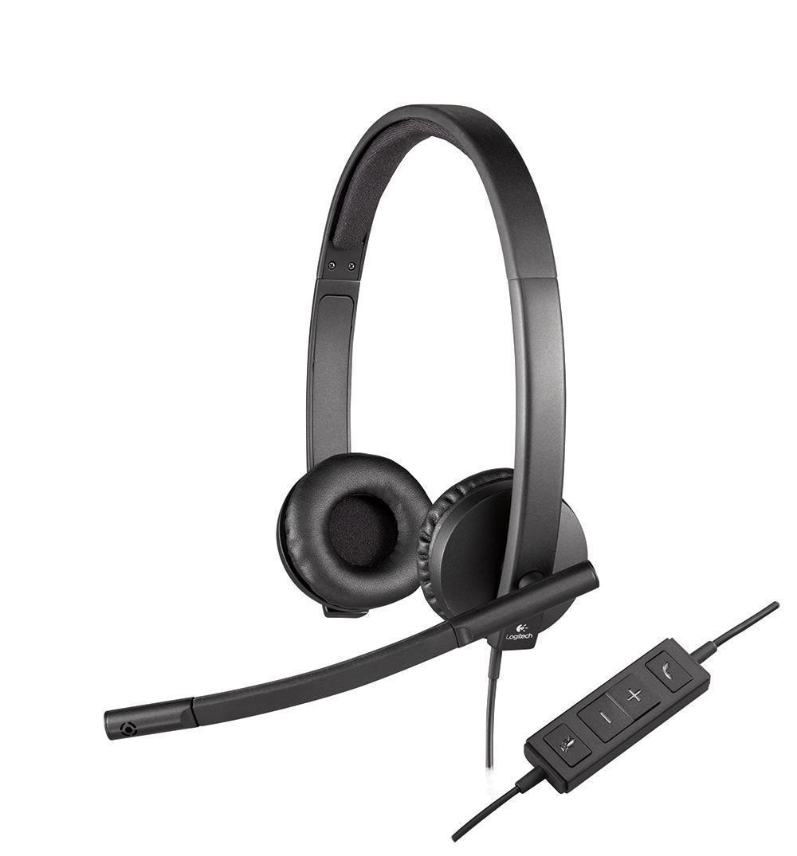 Logitech H570e Stereo USB гарнитура (981-000575) - Офисные гарнитуры