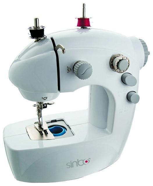 Sinbo SSW 101, White швейная машинаSSW 101С этой швейной машиной вам предоставляется возможность получить удовольствие от шитья. Теперь, также как и с применением большой швейной машины, вы сможете легко и без проблем отремонтировать одежду, белье или шторы, пошить новую одежду.Виды строчек: Верхняя двухцветная декоративная Прямой стежок