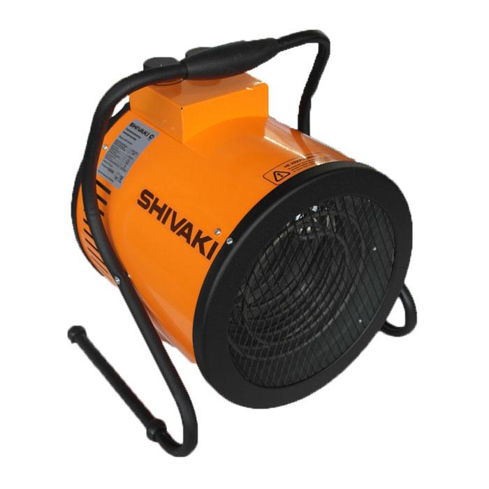 Shivaki SHIF-EL60Y тепловая пушкаSHIF-EL60YЭлектрический тепловентилятор SHIVAKI SHIF-EL60Y предназначен для вентиляции и обогрева жилых и нежилых (производственных, общественных и вспомогательных) помещений. Тепловентилятор имеет три режима работы: режим вентиляции (без нагрева) и два режима обогрева. В данном приборе установлен мощный двигатель с увеличенным ресурсом работы, корпус с двойными стенками создает направленный воздушный поток с малой турбулентностью. Универсальная ручка-подставка с регулируемым углом наклона позволяет изменять направление воздушного потока. С помощью ручки регулировки температуры Вы можете поддерживать заданную температуру в помещении. Тепловентилятор имеет функцию защиты от перегрева. Идеален для сушки стен и полов.2 режима обогреваРежим вентиляцииМощность обогрева: 4,0 / 6,0кВтНапряжение питания: 380В / 50ГцНоминальный ток: 9,1 АКорпус с двойными стенкамиКласс электрозащиты: I классСтепень защиты: IP 20Увеличение температуры воздуха на выходе : 22°С
