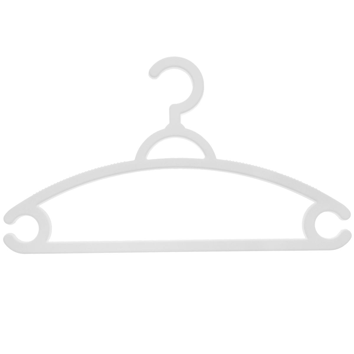 """Набор """"М-пластика"""", выполненный из легкого и прочного пластика, состоит из трех вешалок.Изделия оснащены перекладинами и двумя крючками.Вешалка - это незаменимая вещь для того, чтобы ваша одежда всегда оставалась в хорошем состоянии.Комплектация: 3 шт."""