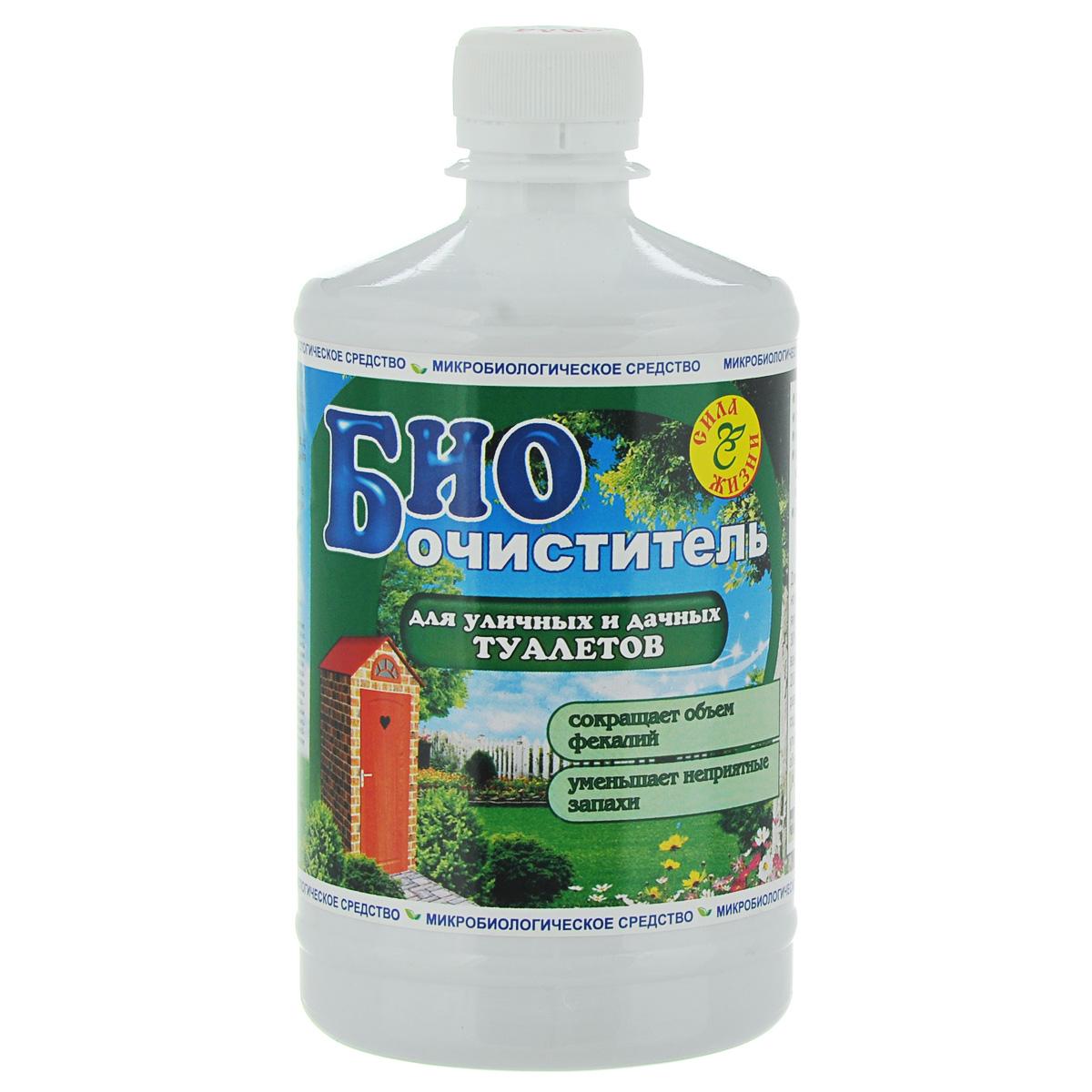 Биоочиститель Сила жизни для уличных и дачных туалетов, 0,5 л4607077870213Биоочиститель Сила жизни: - уменьшает запахи; - разлагает фекалии, превращая их в воду и углекислый газ; - сокращает объем фекалий; - экологически безопасен; - создает комфортные условия вдачном туалете ; - продлевает срок службы туалетной ямы; - обладает свойством обезвреживания широкого спектра патогенных микроорганизмов в отходах и фекалиях;- не содержит химических веществ; - при постоянном применении (1-2 бутылки за сезон) воду и осадок из туалета можно безопасно дренировать впочву или использовать для удобрения и орошения; - работает при температуре то +4°С до 35°С. Состав: смесь нетоксичных микроорганизмов, для которых основным источником питания являютсяфекалии и целлюлоза.