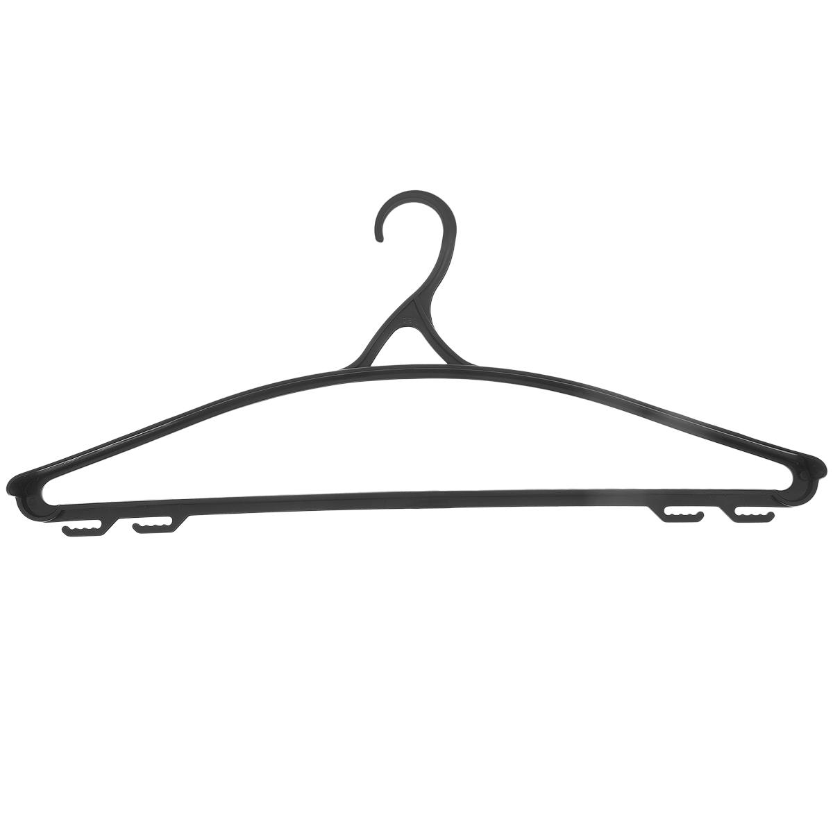 Вешалка для одежды М-пластика, цвет: черный, размер 50-52М 2210Универсальная вешалка для одежды М-пластика выполнена из легкого пластика.Изделие оснащено перекладиной и четырьмя крючками.Вешалка - это незаменимая вещь для того, чтобы ваша одежда всегда оставалась в хорошем состоянии.Размер одежды: 50-52.