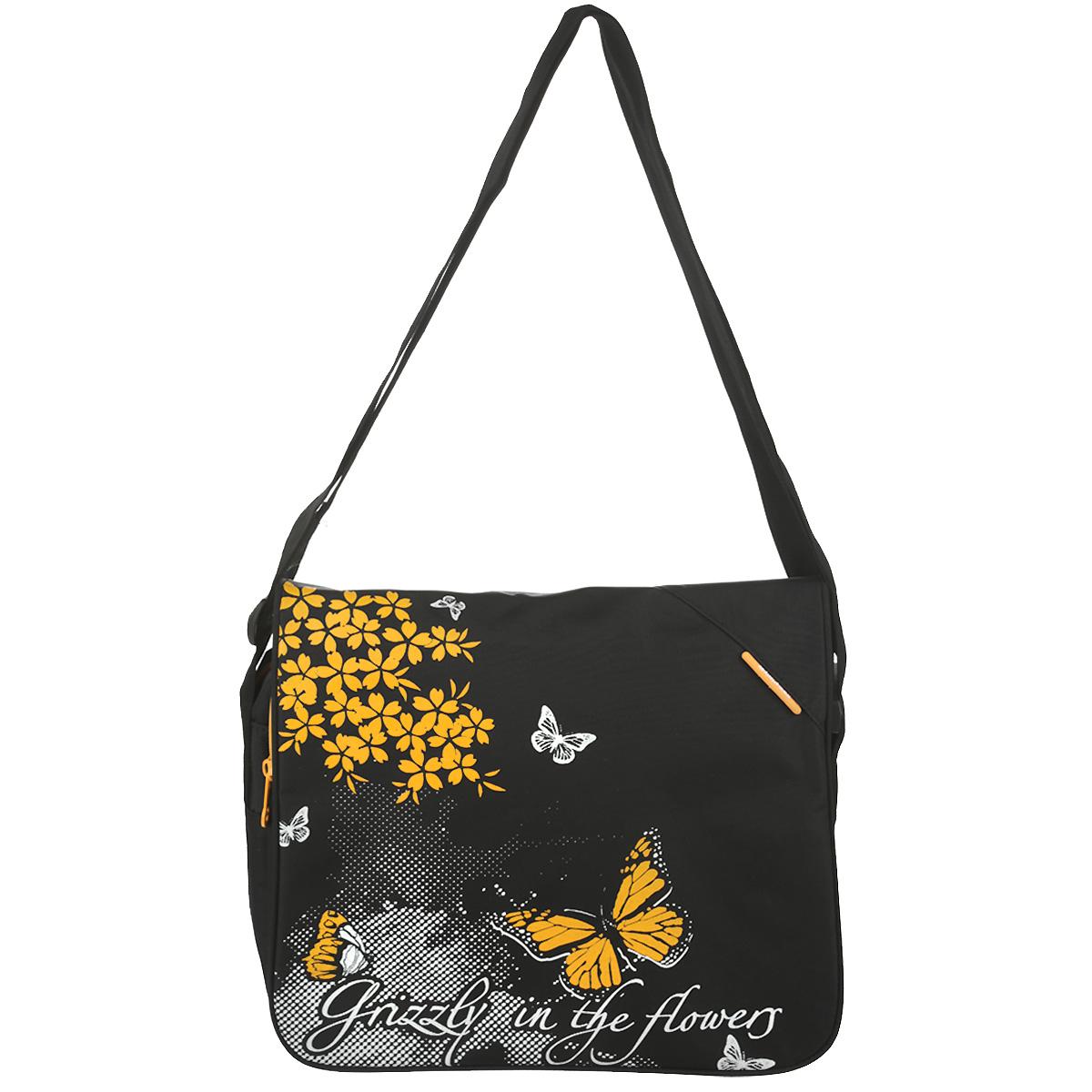 Сумка школьная  Grizzly , цвет: черный, желтый. MD-353-1 -  Ранцы и рюкзаки