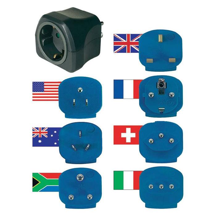 Brennenstuhl Travel Plugs набор сетевых переходников для туристов (1508160) - Универсальные переходники