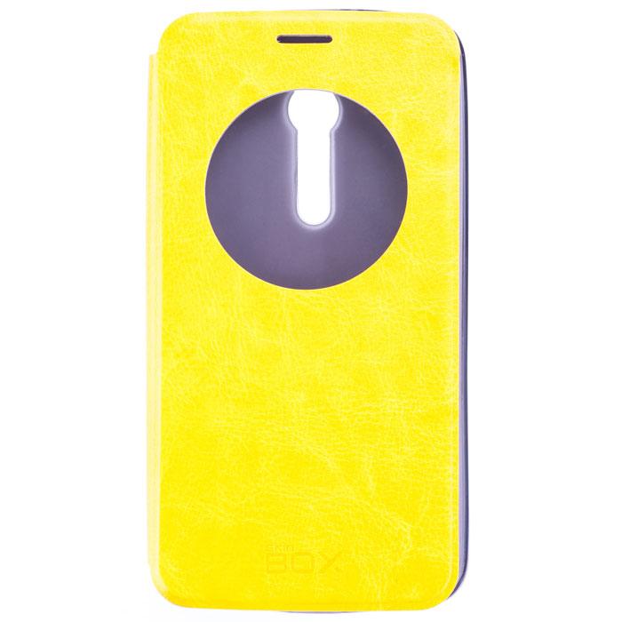 Skinbox Lux AW чехол для Asus ZenFone 2 (ZE551ML/ZE550ML), Yellow чехлы для телефонов skinbox флип кейс для slim aw asus zenfone 5