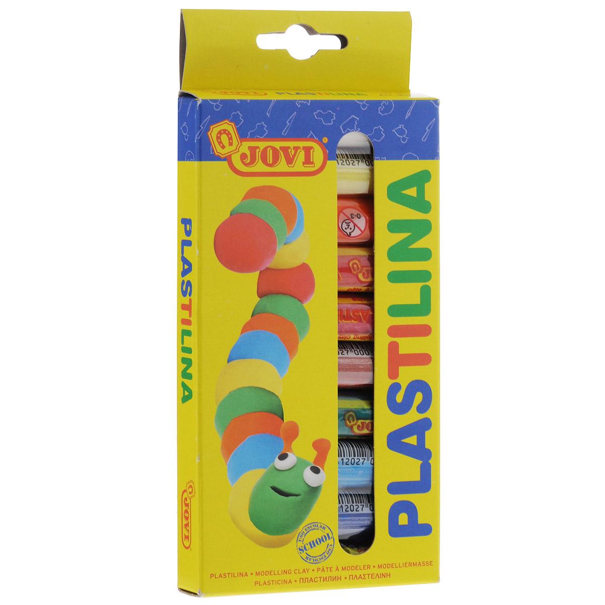 Пластилин Jovi, 10 цветов90/10Пластилин Jovi - это отличная возможность познакомить ребенка с еще одним из видов изобразительного творчества, в котором создаются объемные образы и целые композиции. В набор входит пластилин 10 ярких цветов (белый, желтый, оранжевый, красный, малиновый, светло-коричневый, зеленый, голубой, синий, черный). Цвета пластилина легко смешиваются между собой, и таким образом можно получить новые оттенки. Пластилин на растительной основе, очень мягкий, имеет яркие, красочные цвета и не липнет к рукам.Техника лепки богата и разнообразна, но при этом доступна даже маленьким детям. Занятие лепкой не только увлекательно, но и полезно для ребенка. Оно способствует развитию творческого и пространственного мышления, восприятия формы, фактуры, цвета и веса, развивает воображение и мелкую моторику.