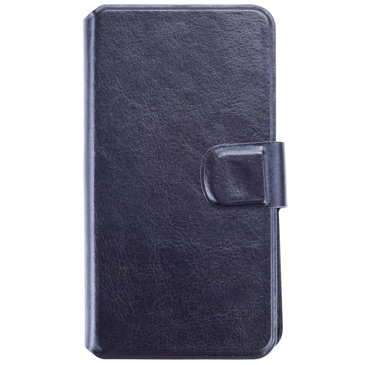 Skinbox Slide Sticker чехол для смартфонов 5, BlackT-S-U5.0Чехол Skinbox Slide Sticker выполнен из высококачественного поликарбоната и экокожи. Он обеспечивает надежную защиту корпуса и экрана смартфона и надолго сохраняет его привлекательный внешний вид. Чехол также обеспечивает свободный доступ ко всем разъемам и клавишам устройства.