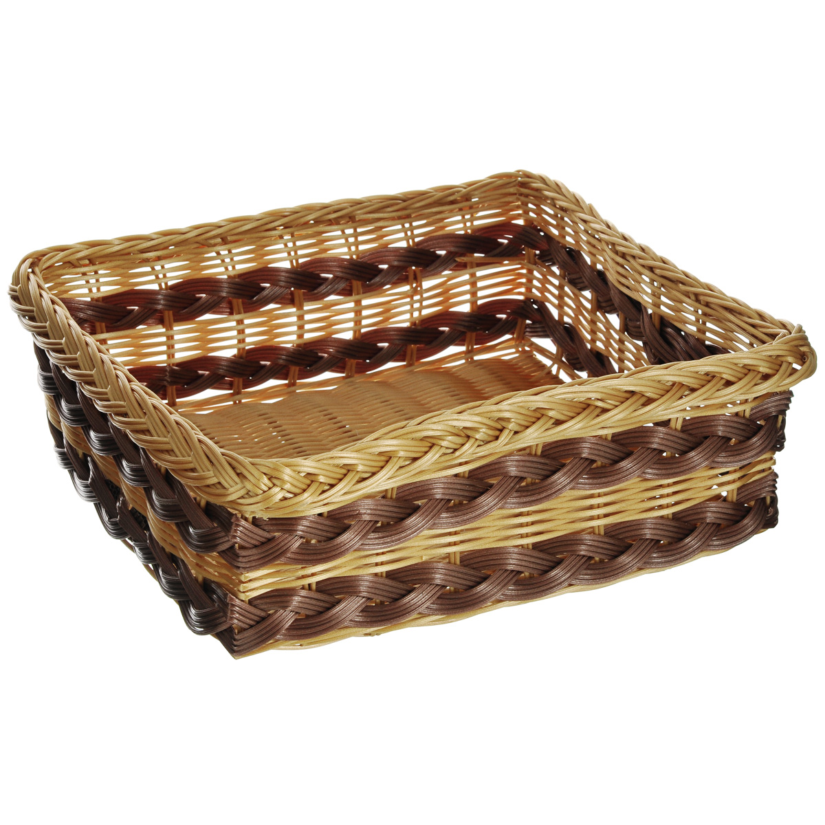 Корзинка для фруктов Kesper, 34 х 29 х 12 см 1781-41781-4Оригинальная плетеная корзинка Kesper прямоугольной формы, выполнена из пластика, напоминающего фактуру дерева. Корзинка прекрасно подойдет для вашей кухни. Она предназначена для красивой сервировки фруктов.Изящный дизайн придется по вкусу и ценителям классики, и тем, кто предпочитает утонченность и изысканность. Можно мыть в посудомоечной машине. Размер корзинки: 34 см х 29 см х 12 см.