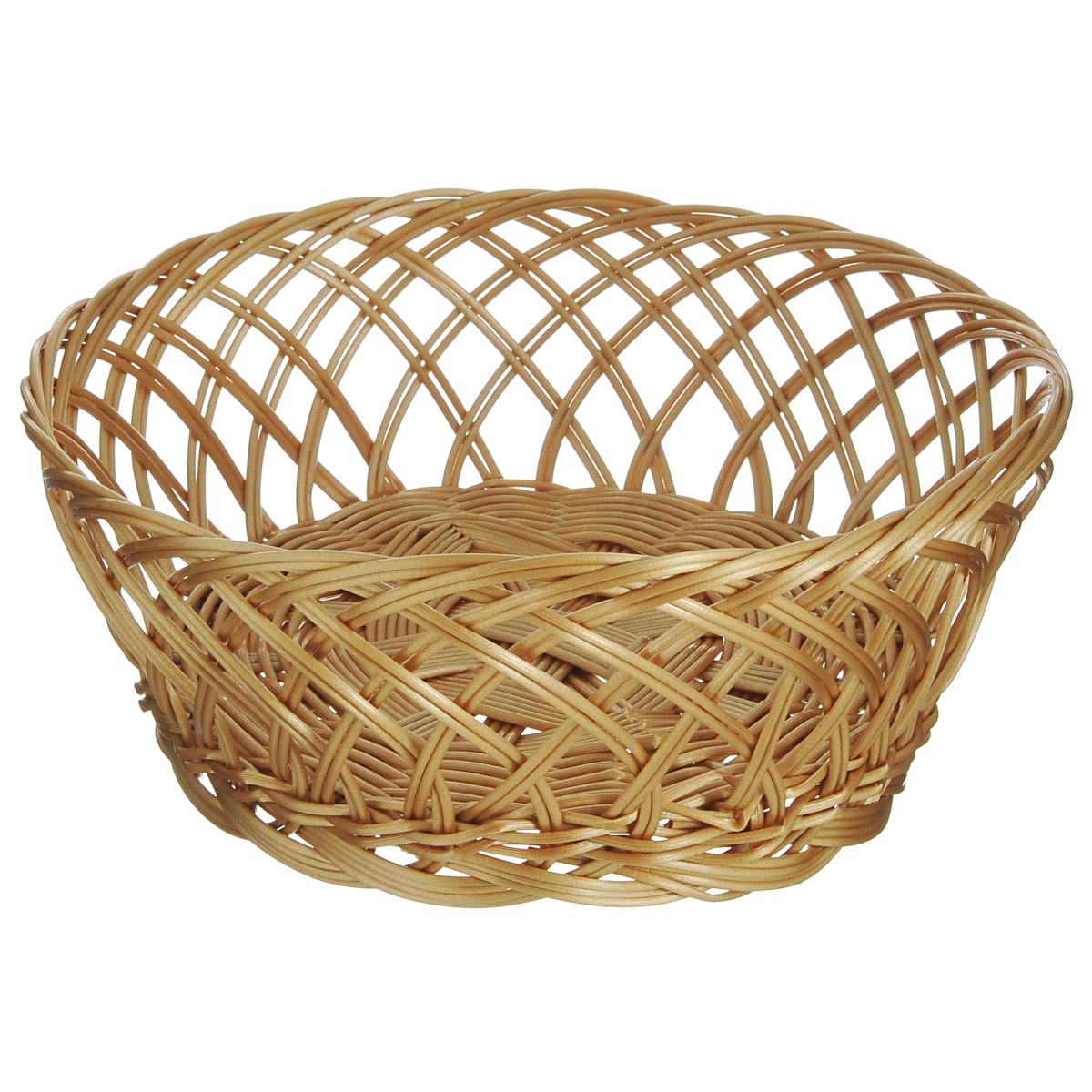 Корзинка для фруктов Kesper, диаметр 25 см. 1784-01784-0Оригинальная плетеная корзинка Kesper круглой формы, выполнена из пластика, напоминающего фактуру дерева. Корзинка прекрасно подойдет для вашей кухни. Она предназначена для красивой сервировки фруктов.Изящный дизайн придется по вкусу и ценителям классики, и тем, кто предпочитает утонченность и изысканность. Можно мыть в посудомоечной машине. Диаметр корзинки: 25 см. Высота корзинки: 10 см.