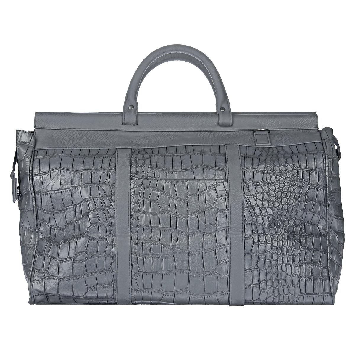 Сумка дорожная Antan Крокодил, цвет: темно-серый. 2-197 сумка дорожная antan собачки цвет темно синий 2 4m