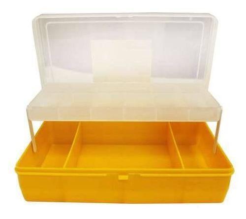 Коробка #21-3- 6, 2х ярус. бол. с микролифтом, 235х150х65 мм. тип 4(темно-желтая)