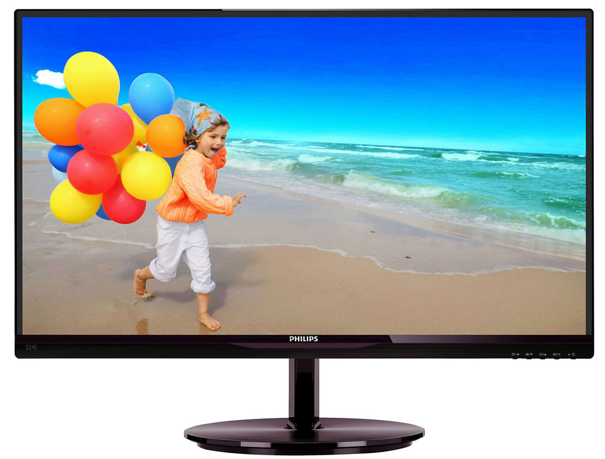 Philips 224E5QSB (00/01), Black Cherry монитор тостер philips hd 2637 00