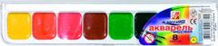 Акварель медовая КЛАССИКА 8 цв., пласт. упак., с кистью241007В наборе: кисточка. Используются для детского творчества, а также для художественных, оформительских и декоративно-прикладных работ.