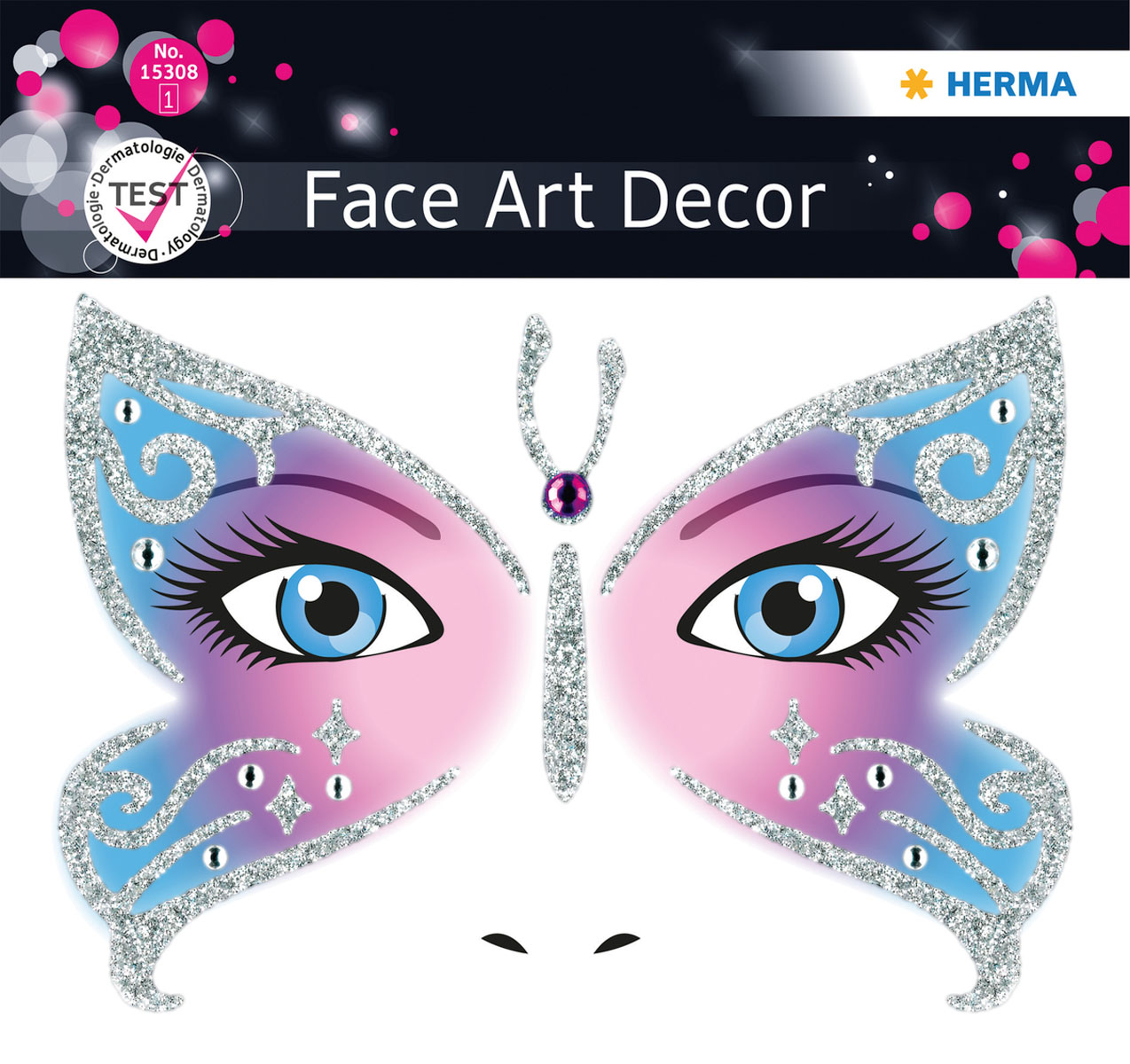Наклейки на лицо Face Art Butterfly 19pcs 3d butterfly wall stickers home room art decor