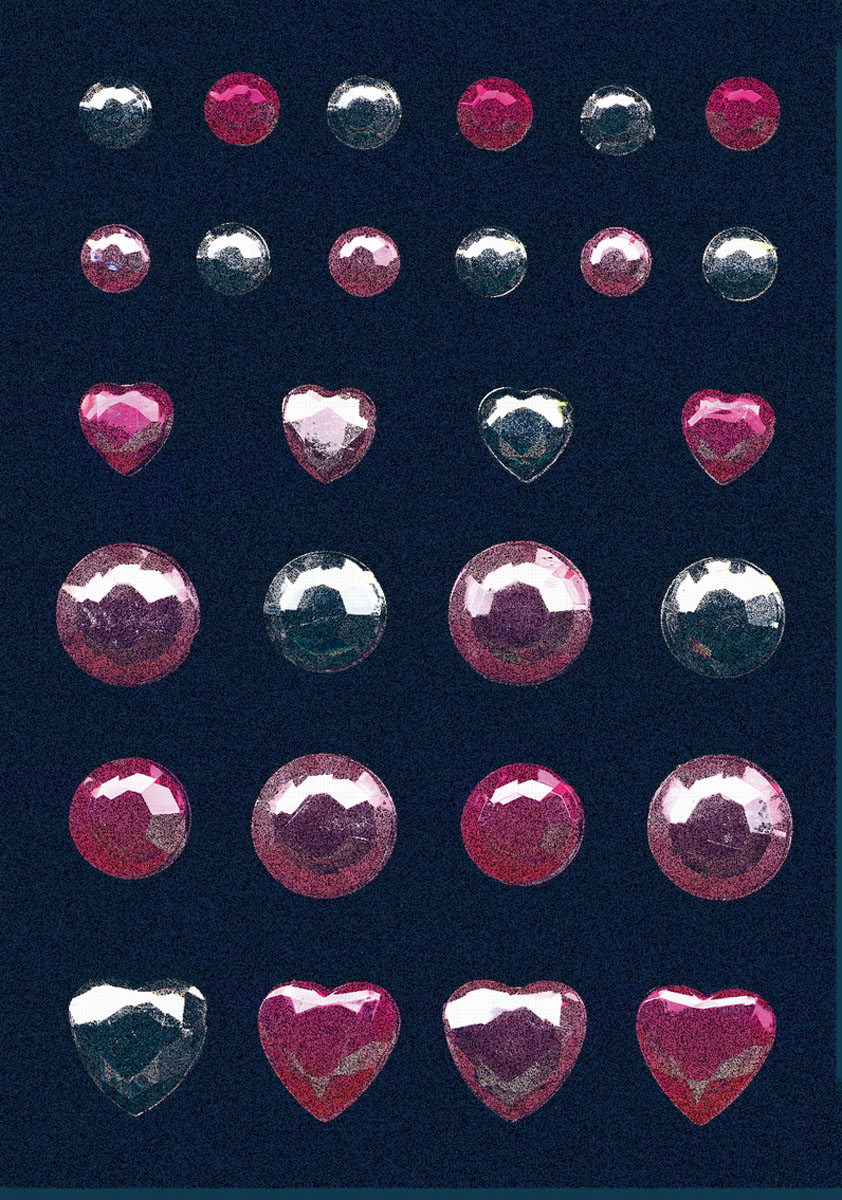 Наклейки Magic Glamour. Бриллиант, цвет: розовый. серебристый herma наклейки face art 15306