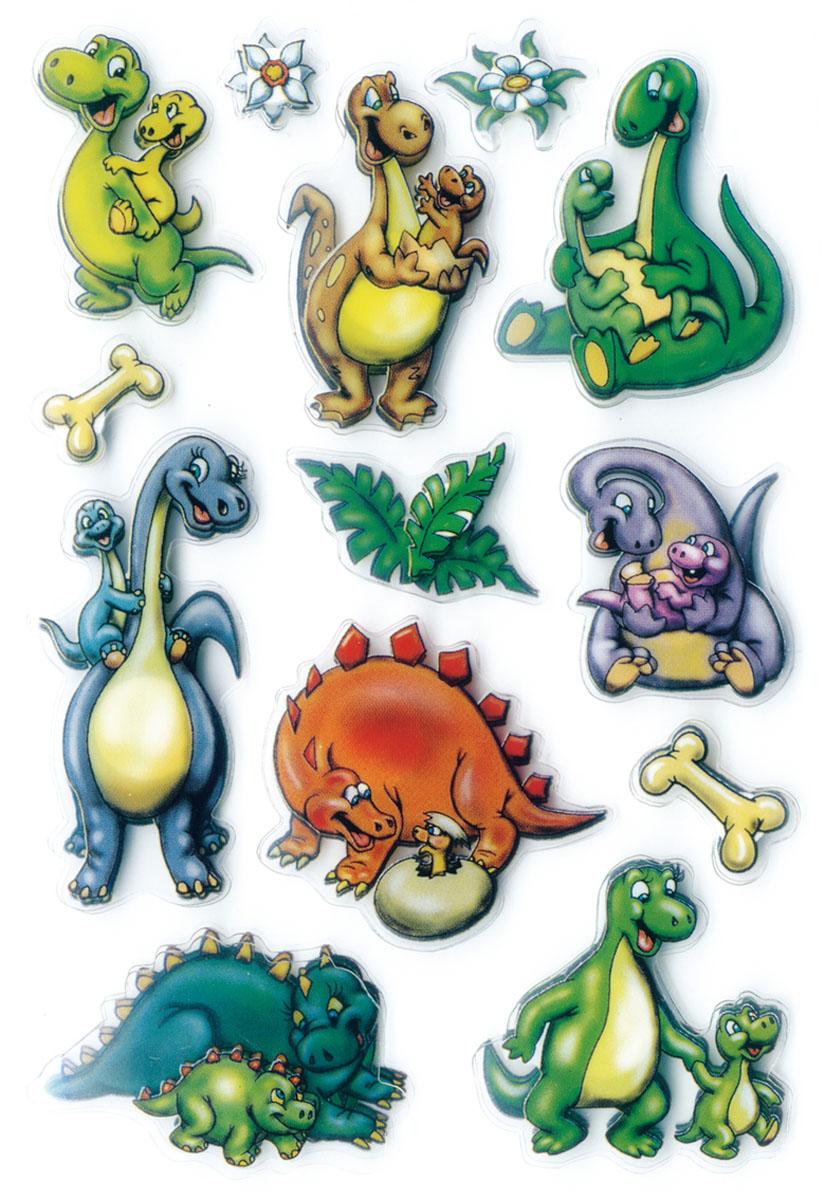 3D-наклейки Magic Динозаврики наклейки gekkonidae 3d apotropaic