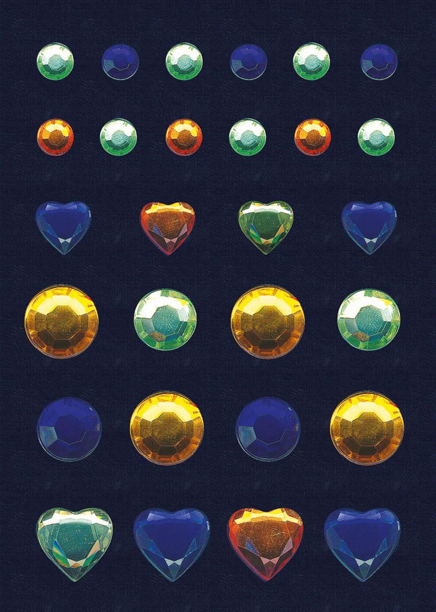 Наклейки Magic Glamour. Бриллиант, цвет: голубой, салатовый, желтый цена