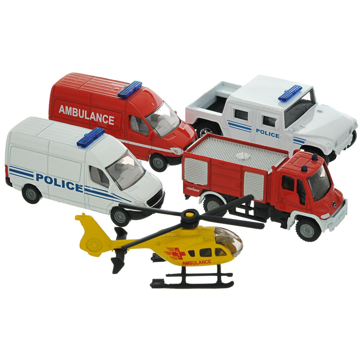 Siku Игровой набор Служба спасения игрушка siku ауди r8 8 0 3 7 2 4см 1430