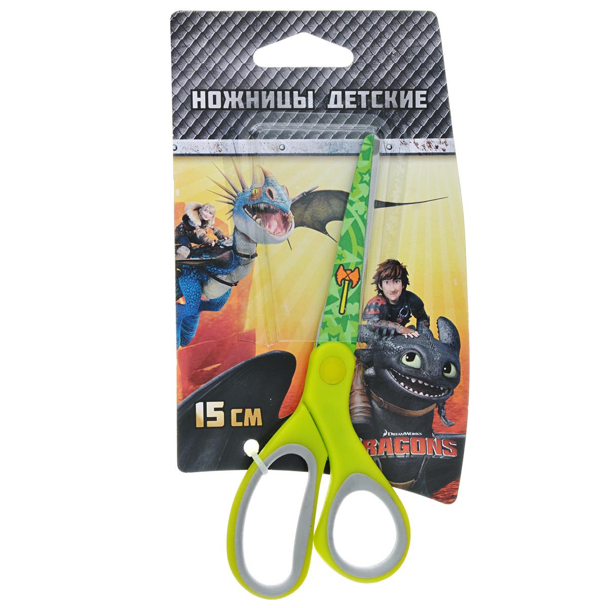 Ножницы детские Action Dragons, цвет: салатовый, 15 смC37329/DR-ASC265_салатовыйДетские ножницы Action Dragons с безопасными закругленными лезвиями изготовлены из высококачественной нержавеющей стали. Лезвия с наружной стороны оформлены декоративным рисунком. Облегченные ручки ножниц адаптированы для детской руки.Вашему ребенку будет настоящим удовольствием делать с ножницами Action Dragons различные аппликации из бумаги или других материалов.