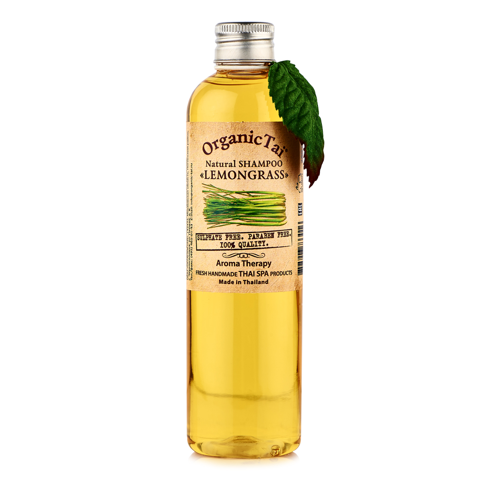 OrganicTai Натуральный шампунь для волос «ЛЕМОНГРАСС» 260 мл organictai масло для тела и аромамассажа лемонграсс жожоба и персик 1000 мл