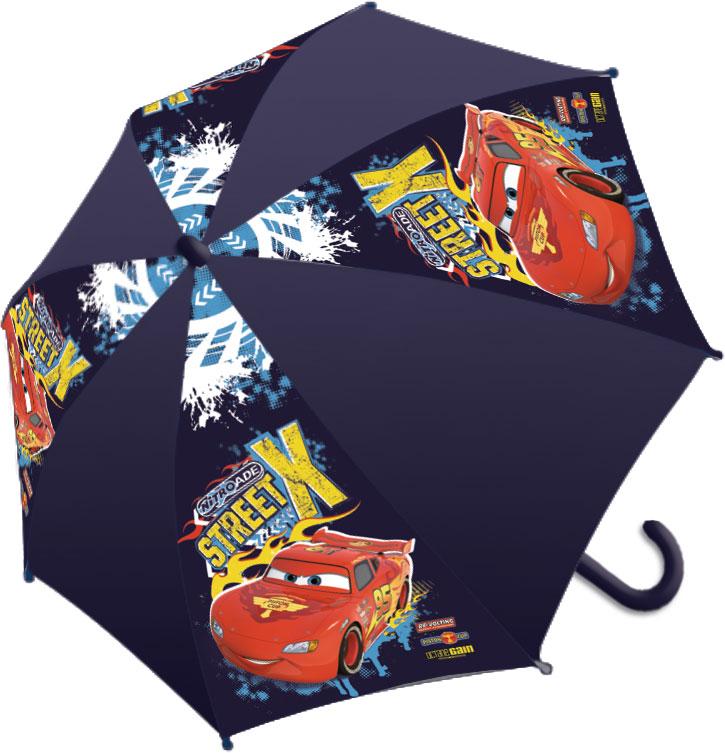 Зонт-трость детский Cars, цвет: темно-фиолетовый, красный, желтыйП250070003-9Яркий детский зонт-трость Cars станет замечательным подарком вашемуребенку и доставит ему много удовольствия. Его форма надежно защитит ребенкав дождливую погоду. Все выступающие металлические части закрытыпластиком, что является защитой от возможных повреждений. Купол зонтавыполнен из полиэфирного эластомера и оформлен ярким рисунком.Закрывается хлястиком на кнопку. Каркас зонта выполнен из восьмиметаллических спиц и оснащен удобной закругленной пластиковой рукояткой.Зонт раскладывается автоматически и складывается механически.
