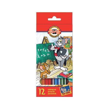 Карандаши 12 цветов Koh-I-Noor. Том и Джерри в картонной коробке карандаши koh i noor набор карандашей с многоцветным грифелем magic 5 штук