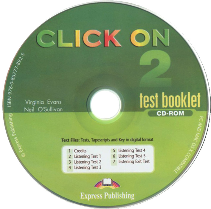 Click On 2: Test Booklet (аудиокурс на CD-ROM) preliminary practice test plus 2 2 cd rom
