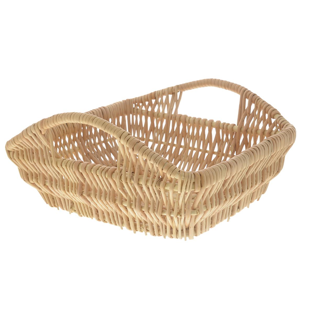 Корзина Kesper, 29 см х 23 см х 9,5 см1983-6Прямоугольная корзина Kesper изготовлена из натурального плетеного волокна. Она предназначена для хранения фруктов, хлеба, а также мелочей дома или на даче. Позволяет хранить мелкие вещи, исключая возможность их потери. Изделие оснащено удобными ручками.Корзина очень вместительная. Элегантный выдержанный дизайн позволяет органично вписаться в ваш интерьер и стать его элементом.Материал: натуральное волокно.Размер корзины по верхнему краю (без учета ручек): 29 см х 23 см.Размер корзины по верхнему краю (с учетом ручек): 29 см х 29 см.Высота корзины (без учета ручек): 9,5 см.