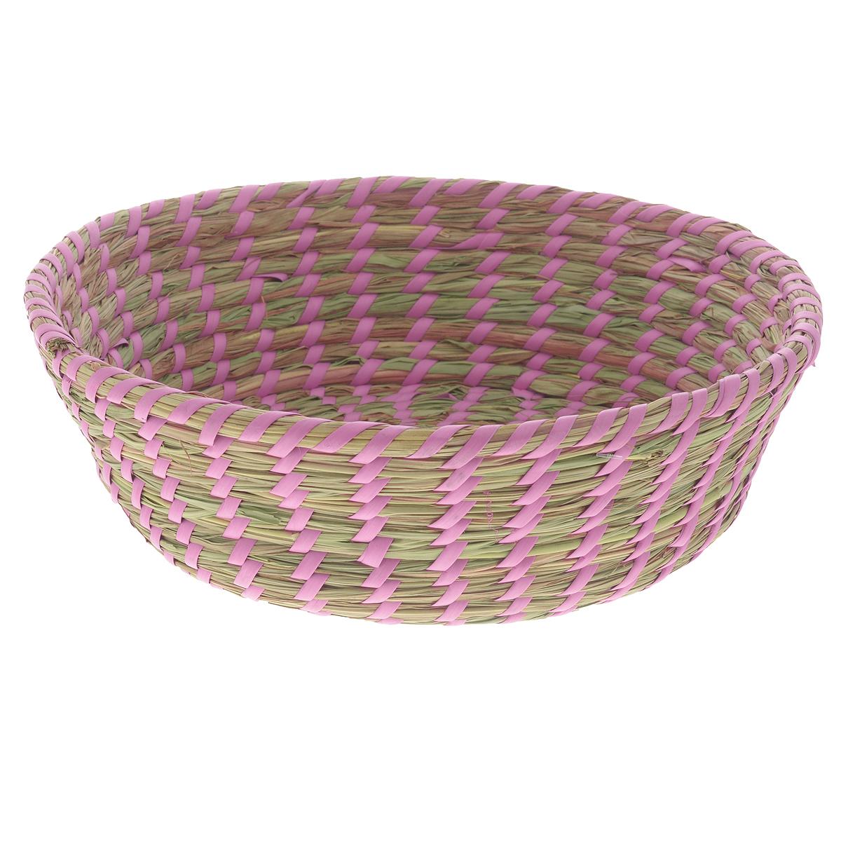 Корзина Zeller, диаметр 33 см18031Круглая корзина Zeller изготовлена из натурального плетеного волокна. Она предназначена для хранения фруктов, хлеба, а также мелочей дома или на даче. Позволяет хранить мелкие вещи, исключая возможность их потери. Корзина очень вместительная. Элегантный выдержанный дизайн позволяет органично вписаться в ваш интерьер и стать его элементом.Материал: натуральное волокно.Диаметр: 33 см.Высота: 10 см.