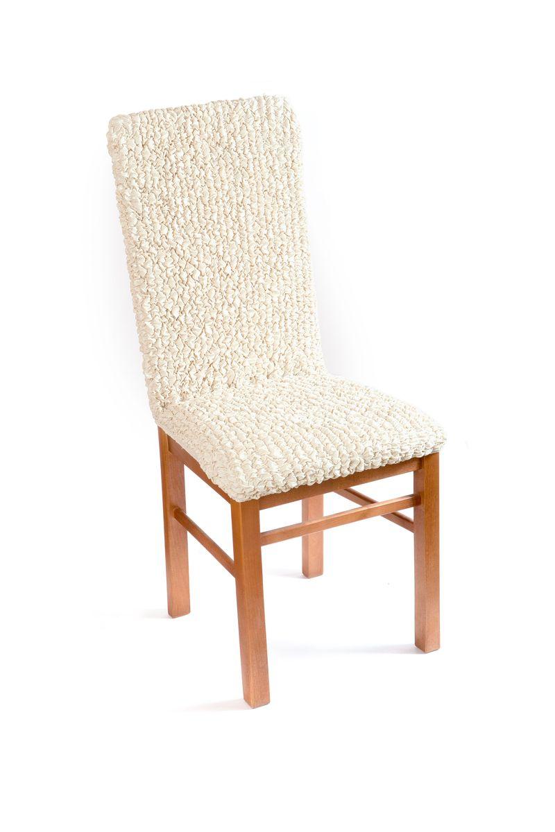 Чехол на стул Еврочехол Модерн, цвет: ванильный, 40-60 см3/22-11Чехол на стул Еврочехол Модерн выполнен из 60% хлопка, 35% полиэстера и 5% эластана. Натуральный хлопок в составе мягкой, приятной на ощупь ткани делает ее крепкой и практичной в эксплуатации, позволяя идеально облегать мебель и долго сохранять первоначальную форму. Красивая фактура ткани выгодно смягчит геометрию стула, а актуальный цвет чехла сделает его эффектной деталью как классического, так и современного интерьера, привнося в атмосферу помещения свежие легкие ноты. Еврочехол имеет цельную конструкцию, благодаря которой он полностью облегает спинку и сиденье. Излишки ткани (это важно и для фиксации чехла на стуле) легко убираются в расстояние между спинкой и сиденьем. Чехол защитит ваш стул от ежедневных воздействий и облагородит его внешний вид.Растяжимость чехла по спинке: 40-60 см.