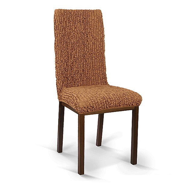 """Чехол на стул Еврочехол """"Микрофибра"""", цвет: кофейный, 40-65 см"""