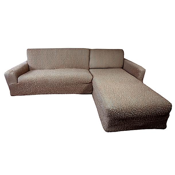 Чехол на угловой диван Еврочехол Микрофибра, правый угол, цвет: кофейный чехлы для мебели еврочехол еврочехол плиссе лен на кресло
