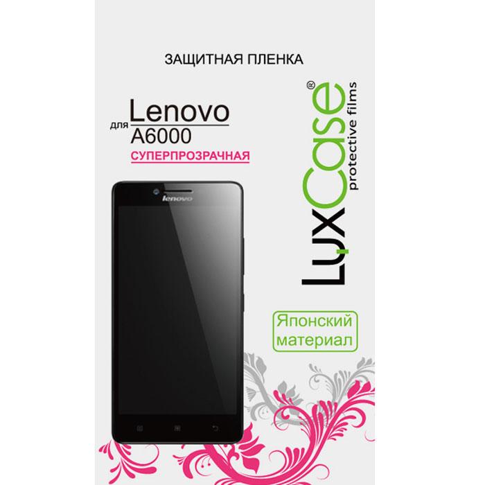 Luxcase защитная пленка для Lenovo A6000, суперпрозрачная51050Защитная суперпрозрачная пленка Luxcase для Lenovo A6000 сохраняет экран смартфона гладким и предотвращает появление на нем царапин и потертостей. Структура пленки позволяет ей плотно удерживаться без помощи клеевых составов и выравнивать поверхность при небольших механических воздействиях. Пленка практически незаметна на экране и сохраняет все характеристики цветопередачи и чувствительности сенсора