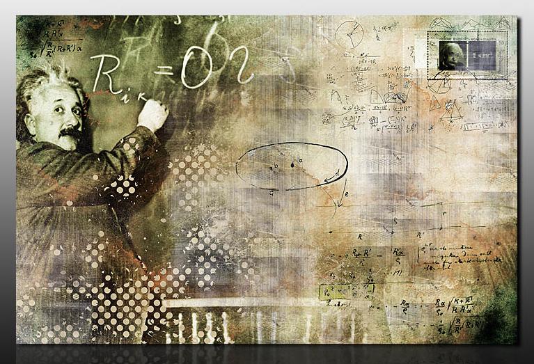 Картина Композиция с Энштейном, смешанная техника, холст, подрамник, жикле, акрил, 100х65 см, автор Светлана СергееваР1 (100х65)Картина Композиция с Энштейном выглядит современно и стильно. Это идеальный подарок на день рождения. А также шикарное украшение вашего офиса. Если вы молодой и креативный - то этот подарок для вас. Тем более, что это не просто печать на холсте, это индивидуальнаяработа художника. Акриловые краски придают объем и неповторимость холсту. Галерейная натяжка обеспечивает законченность, и картина не нуждается в обрамлении. Спешите украсить вашу жизнь. холст, акрил, деревянный подрамник Внимание!!! Так как это ручная работа, рисунок может слегка отличаться от представленного на фото образца.