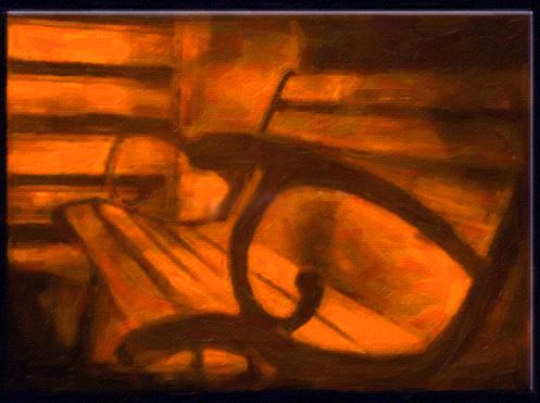 Картина Композиция с лавочкой, смешанная техника, холст, подрамник, жикле, акрил, 80х60 см, автор Светлана СергееваР2 (80х60)Картина Композиция с лавочкой будет отлично смотреть в фото или дизайн студии, а также креативных рекламных агентствах. Неожиданный ракурс лавочки, а также необычный цвет - все это придает картине таинственность и романтичность. Работа выполнена в смешанной технике с использованием акриловых красок. Натяжка на подрамник галерейная. холст, акрил, деревянный подрамник Внимание!!! Так как это ручная работа, рисунок может слегка отличаться от представленного на фото образца.