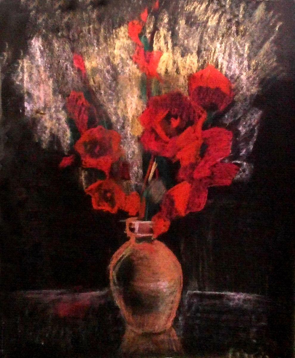 Картина Гладиолусы, пастель, тонированная бумага, 47х58 см, автор Светлана СергееваЦ5 (47х58)Картина Гладиолусы выполнена в замечательной технике - пастель. Она придется по душе тем, кто устал от традиционной живописи на холсте маслом или акрилом. Эти гладиолусы смогут порадовать, как ваших близких, маму, бабушку, так и кого-то из ваших друзей. Рисунок требует обязательного оформления в раму под стекло для сохранности. бумага, пастель Внимание!!! Так как это ручная работа, рисунок может слегка отличаться от представленного на фото образца.