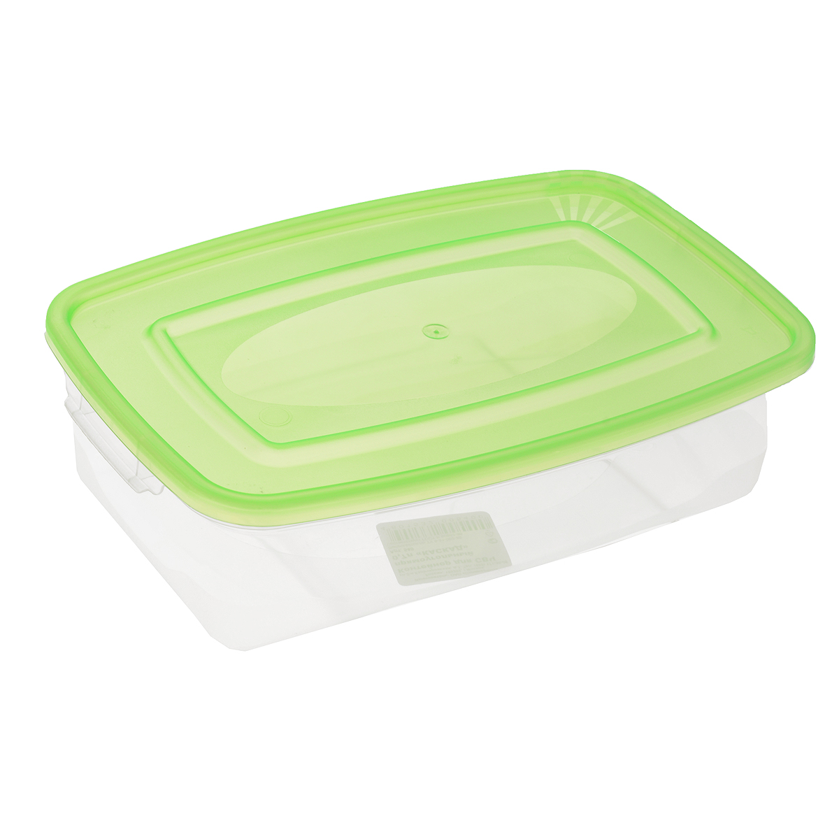 Контейнер для СВЧ Полимербыт Каскад, цвет: зеленый, прозрачный, 700 млС540Прямоугольный контейнер для СВЧ Полимербыт Каскад изготовлен из высококачественного прочного пластика, устойчивого к высоким температурам (до +120°С). Стенки контейнера прозрачные, что позволяет видеть содержимое. Цветная полупрозрачная крышка плотно закрывается. Контейнер идеально подходит для хранения пищи, его удобно брать с собой на работу, учебу, пикник или просто использовать для хранения пищи в холодильнике.Можно использовать в микроволновой печи и для заморозки в морозильной камере. Можно мыть в посудомоечной машине.